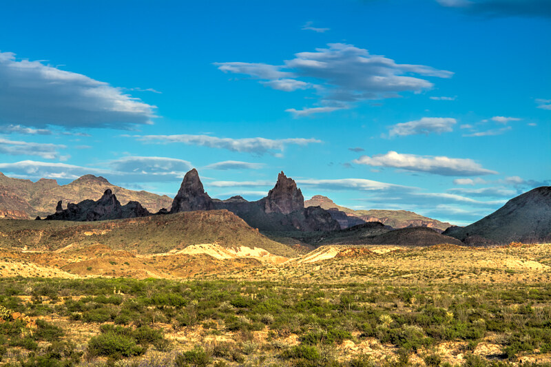 The Chisos Mountains of Old West Texas